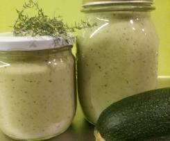 Zucchini-Sahne-Sugo