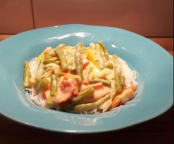 Kokos Cashew Gemüse mit Asia Reisnudeln, vegan & glutenfrei