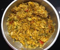 Nasi Goreng mit Geflügelfleisch oder vegetarisch