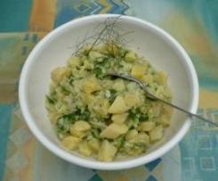 Gurkensalat Flotti Karotti (schnell - wenn Kartoffeln noch übrig sind)