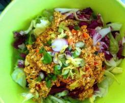 Veganes Laab Gai - Laab Tofu, Thai-Salat
