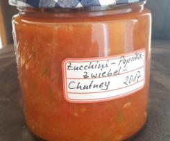 Variation Zucchini-Paprika-Zwiebel-Chutney