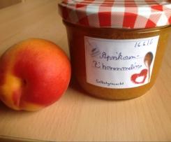 Aprikosenmarmelade mit Zitronenmelisse