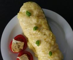 Gefüllte Zucchini (Kartoffelbreifüllung)