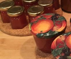 Tomatenmarmelade mit Schuss