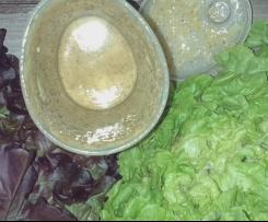 Gesundes Dressing/Salatsoße auf Vorrat