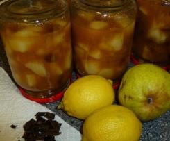 Birnenkompott ohne Zucker a' la Michi (MB geeignet)