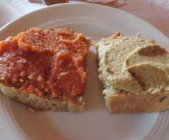 Rote-Linsen- und Auberginenaufstrich, Vegan