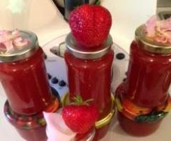 Rosen-Erdbeer-Aufstrich, sanft,(auch für Eis, Torte..)