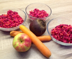 Rote Bete-Möhren-Apfel-Rohkost - Rezept des Tages vom 9. 11. 2015