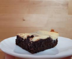 Brownie mit Cheesecake Topping