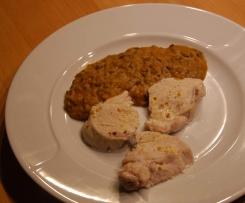 Lebkuchengewürz-Linsen-Gemüse mit Hühnchen