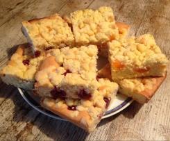 Streuselkuchen mit Obst - saftig und lecker