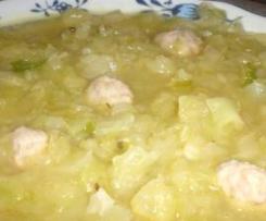Weißkohlsuppe