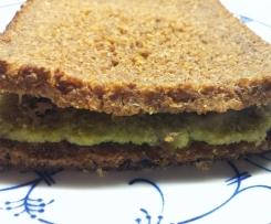 Brokkoli-Ofen-Sandwich, Variation von Avocado - Ofen - Sandwich, fettfrei, vegan, gesund, lecker!