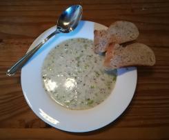 Grünkern - Käse - Lauch - Suppe
