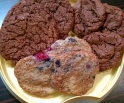 Variation von Cookies Grundteig