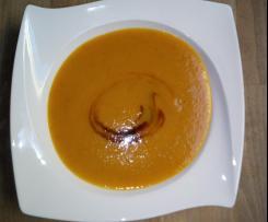 Kürbis-Mango-Zimt-Suppe