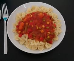 Schnelle Gemüsesoße für Nudeln, Reis etc.