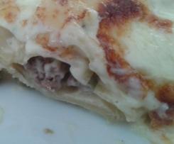 Lasagne ohne Tomaten, laktosefrei