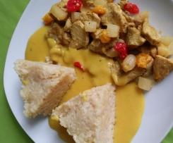 Hühnergeschnetzeltes mit fruchtiger Currysauce