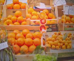 Risotto mit Orangen und Basilikum