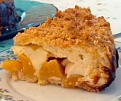 Schneller Käse-Pfirsich-Kuchen