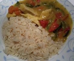 Variation von Curryhähnchen mit Reis (für WW Sattmachertage)
