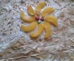 Fantaschnitten mit Pfirsichschmand