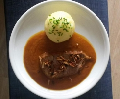 Rinderschmorbraten mit Zimt-Mandel-Butter
