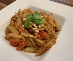 Pesto Rosso mit Dinkel Penne