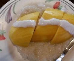 leckerer Kokos-Milchreis mit Mango.. Resteverwertung aus übrig gebliebenem Reis vom Vortag.. vegan