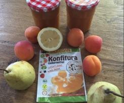 Aprikosen Pfirsich Birne Marmelade mit Grandmarnier