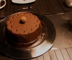 Marmorkuchen mit glatter Schokoglasur