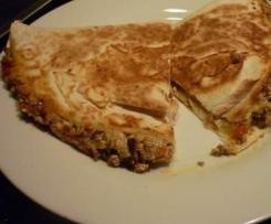 Tofu-Paprika-Champignon-Quesadilla