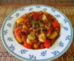 Paprika-Hack-Kartoffeln