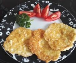 schnelle Käse Pfannkuchen, Low Carb