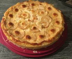 LowCarb Käsekuchen mit Apfelringen