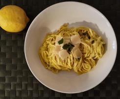 Pasta Limonello - Nudeln mit Zitronen-Joghurt-Soße