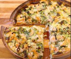 Lachs-Quiche mit Spinat und Sauerampfer