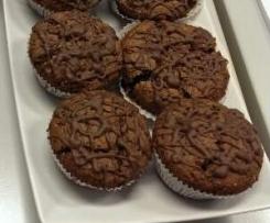 gefüllte Nutella-Muffins