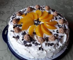 Giotto-Torte mit Pfirsichen