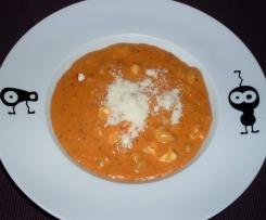 Gnocci mit Tomaten-Sahnesoße und Feta