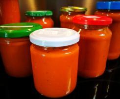 Tomaten einkochen, Tomatensoße, Tomaten püriert