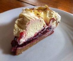 Variation von Spekulatius Kirsch Kuchen
