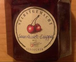 Sauerkirsch-Grappa-Marmelade