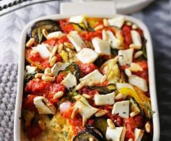 Hirse mit Gemüse gebacken