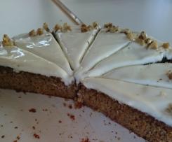 Saftiger Schoko-Möhren-Apfel-Kuchen (Vollwertig und wenig gesüsst!!!)