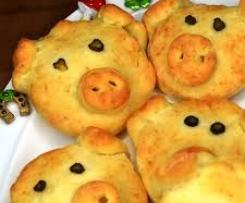 Glücksschweinchen für das Silvesterbuffet deftig