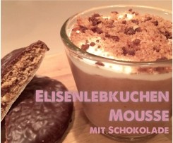 Elisenlebkuchen Mousse mit Schokolade